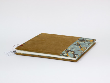Calligraphy book with suede leather