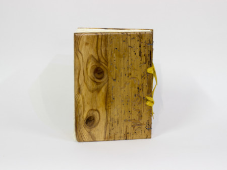 Old pine wood book