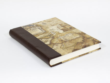 Quarter leather bound book to write adventures on