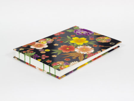 Landscape guest book made of Japanese fabric