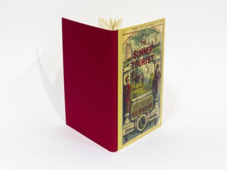 Vista de las tapas delantera y trasera del libro The summer tourist
