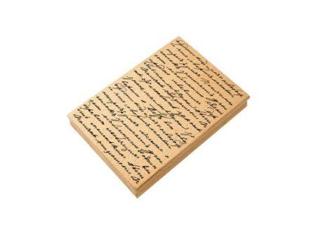 Sello de caucho manuscrito