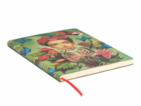 Plano general del libro de Paperblanks Frida con tapa blanda